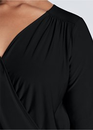 Alternate View Surplice Side Tie Top