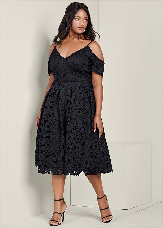Plus Size Lace Midi Dress Venus