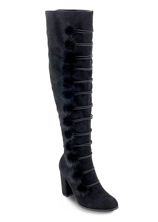 POM POM OVER THE KNEE BOOT