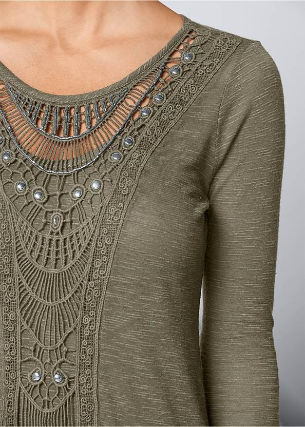 Alternate view Crochet Front Top