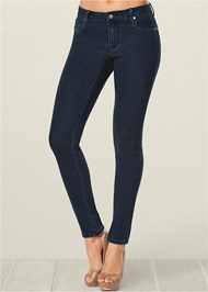 Cropped Front View Bum Lifter Jeans
