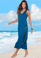mesh side midi cover-up