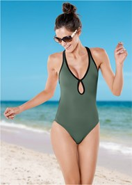 Front view Curvaceous One-Piece