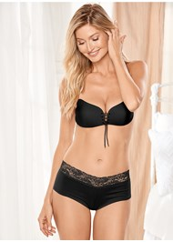 Front view Cupid Backless Lace Up Bra