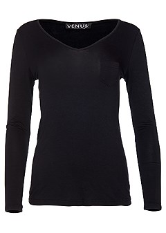 plus size long sleeve sleep top