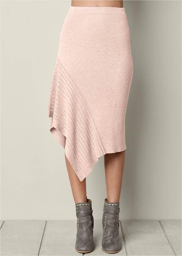 Alternate View Sweater Asymmetrical Skirt