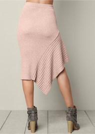 Back View Sweater Asymmetrical Skirt