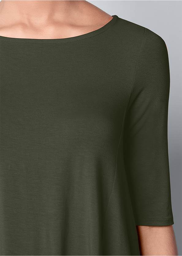 Front View Boat Neck A-Line Top