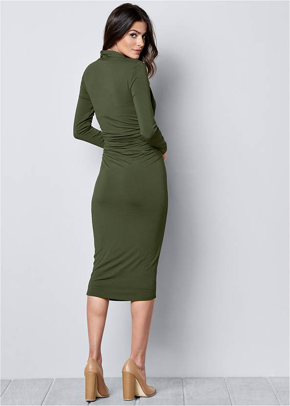 Back View Dress With Faux Shrug