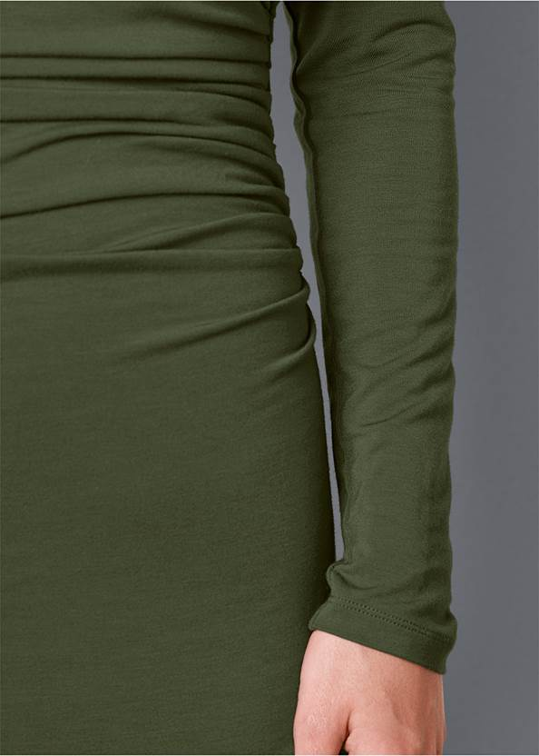 Alternate View Dress With Faux Shrug