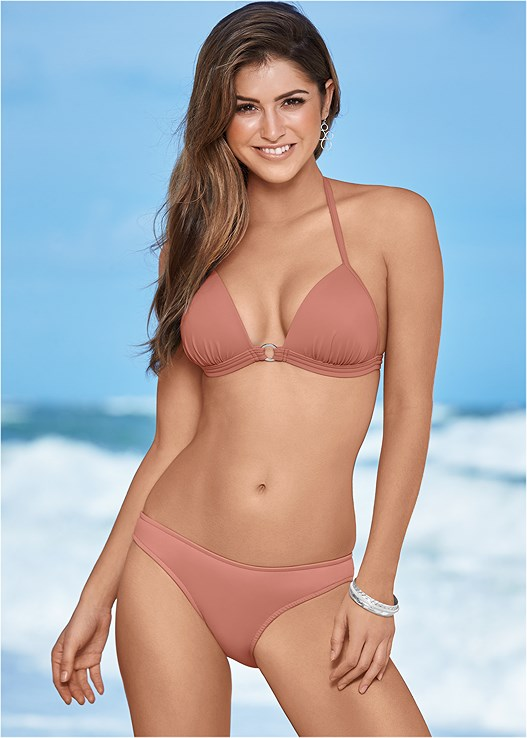 SCOOP FRONT BIKINI BOTTOM,CROP BIKINI TOP,TIE SIDE BIKINI BOTTOM,HIGH WAIST MODERATE BOTTOM