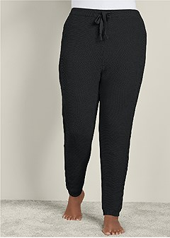 plus size lined sweater lounge pants