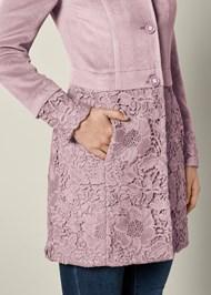 Alternate View Lace Detail Coat