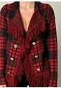 Alternate view Plaid Fringe Sweater