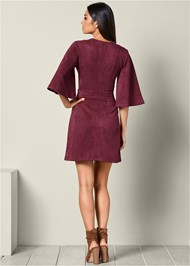 BACK VIEW Faux Suede Dress
