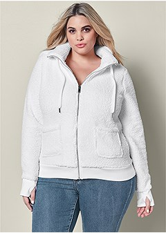 plus size hooded sweatshirt