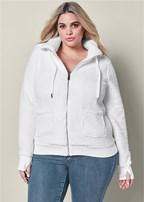 plus size hooded sweatshirt