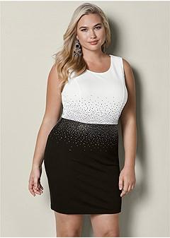 plus size embellished dress