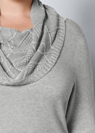 Alternate view Buckle Detail Cowl Sweater