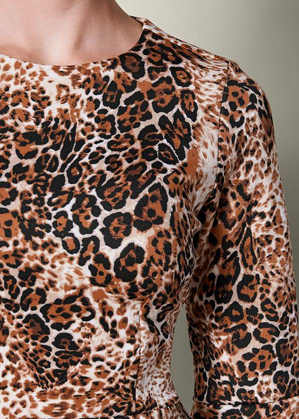 Alternate view Leopard Bell Sleeve Top