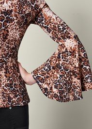 Alternate view Leopard Bell Sleeve Top