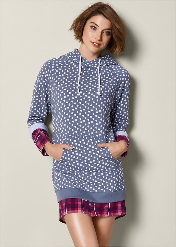 Mixed Print Sleep Dress