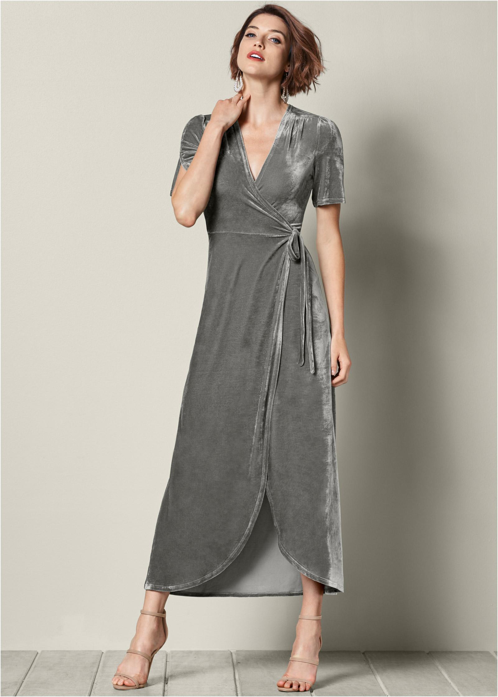 Long Formal Wrap Dresses