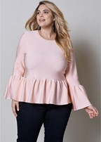 plus size peplum sweater top