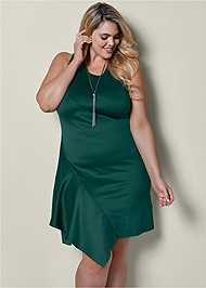 Front view Side Ruffle Dress