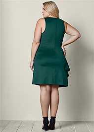Back view Side Ruffle Dress