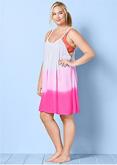 plus size ombre cover-up
