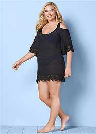 FRONT VIEW Cold Shoulder Cover-Up