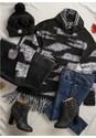Multi flatshot  view Contrasted Fringe Sweater