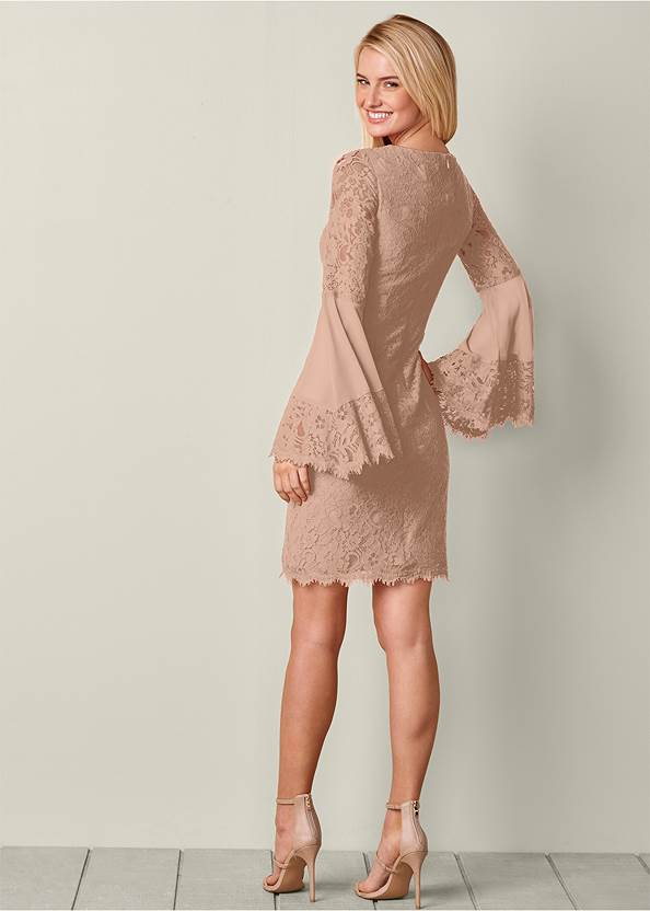 Back view Sleeve Detail Lace Dress