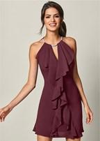 embellished trim dress