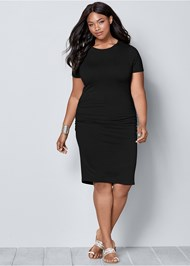 Front view Basic High Neck Dress