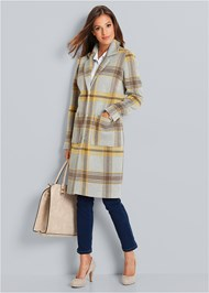 Alternate View Plaid Coat