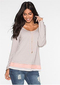 layered casual top