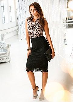 leopard button up blouse
