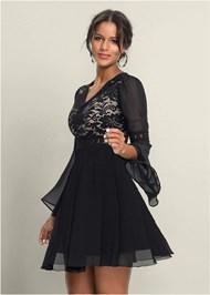 FRONT VIEW Chiffon Party Dress