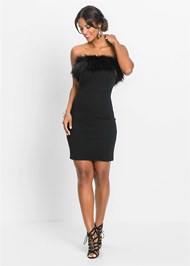 ALTERNATE VIEW Faux Fur Trim Dress