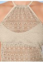 Alternate view Crochet Halter Tankini