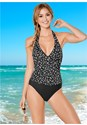 Front view Wrap Front Halter One-Piece