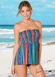 Front view Smocked Tankini Top