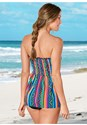 Back View Smocked Tankini Top
