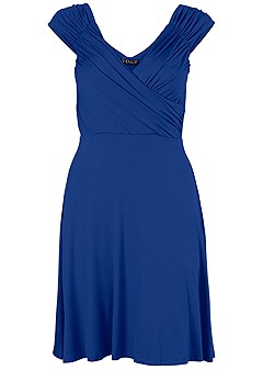 plus size draped front dress