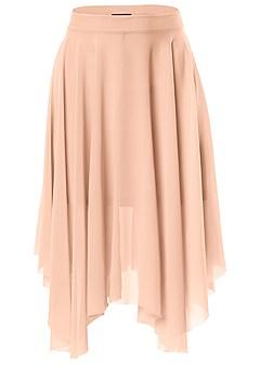 plus size mesh midi skirt