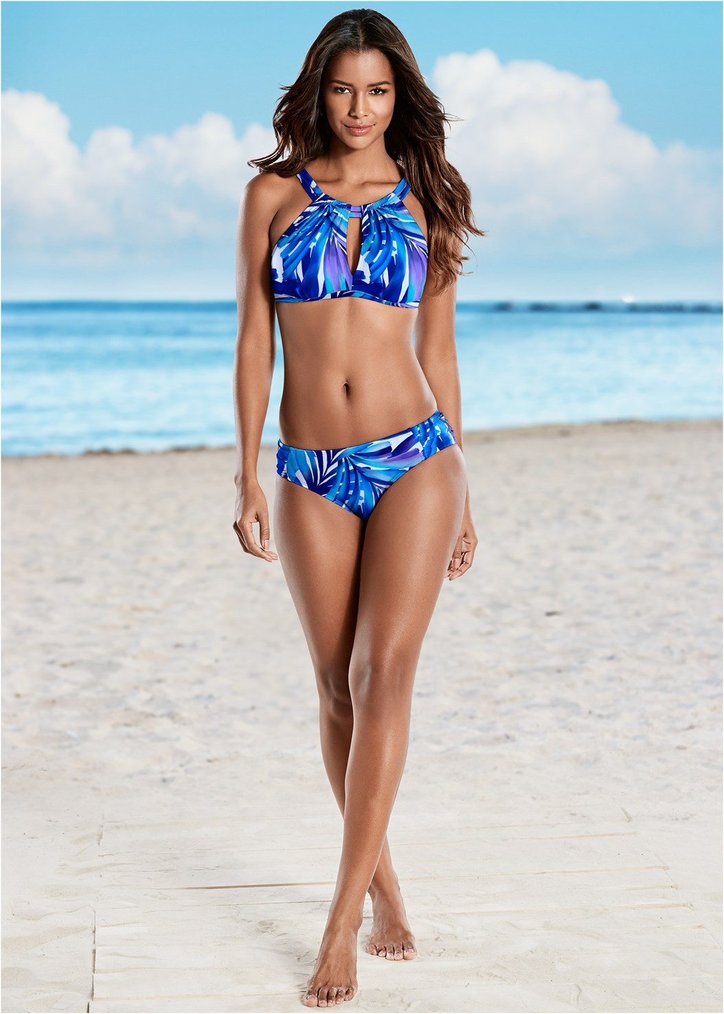 Ruched Low Rise Bottoms,Keyhole High Neck Top,Peephole Sport Top,Belted Tankini Top