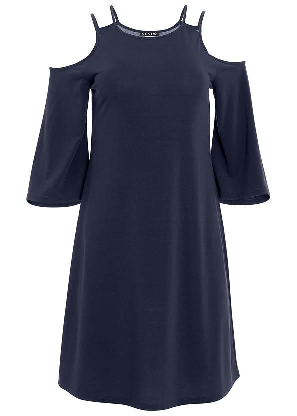 Alternate View Cold Shoulder Mini Dress