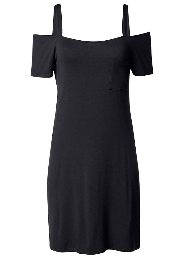 Back View Pocket Detail Casual Dress